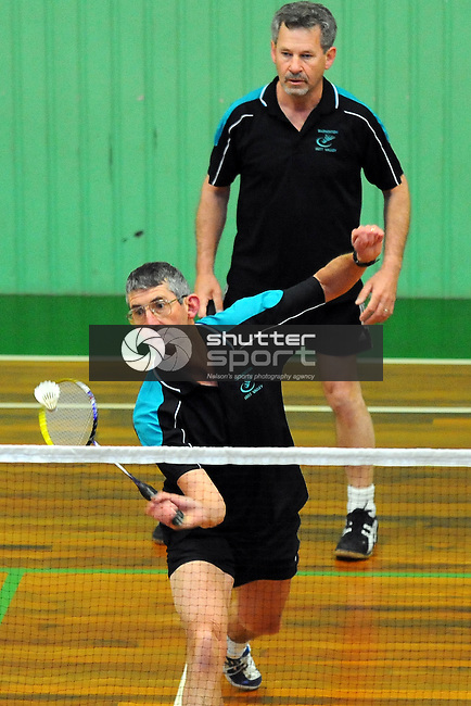 Badminton player Alan Hasson during 2011 South Island Masters Games,  Richmond, Nelson, New Zealand. Monday 17 October 2011. Photo: Chris Symes/www.shuttersport.co.nz