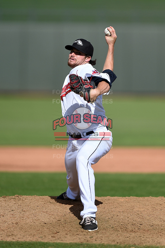 Peoria Javelinas pitcher Louis Head (47) during an Arizona Fall League game against the Scottsdale Scorpions on October 18, 2014 at Surprise Stadium in Surprise, Arizona.  Peoria defeated Scottsdale 4-3.  (Mike Janes/Four Seam Images)