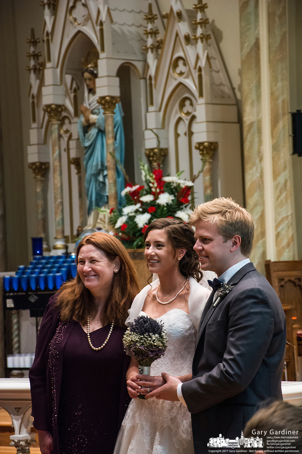 Marriage ceremony for Terri and Owen at St. Patrick's Catholic Church.