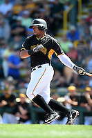 Pittsburgh Pirates outfielder Jose Tabata (31) during a Spring Training game against the New York Yankees on March 5, 2015 at McKechnie Field in Bradenton, Florida.  New York defeated Pittsburgh 2-1.  (Mike Janes/Four Seam Images)