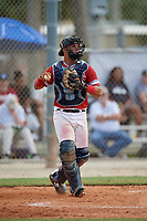 Jomar Daniel Pena Rivera (3) during the WWBA World Championship at the Roger Dean Complex on October 10, 2019 in Jupiter, Florida.  Jomar Daniel Pena Rivera attends Pro Baseball High School Academy in Aguas Buenas, PR and is Uncommitted.  (Mike Janes/Four Seam Images)
