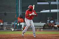 AZL Angels Cristian Gomez (37) at bat during a game against the AZL Giants Orange at Giants Baseball Complex on June 17, 2019 in Scottsdale, Arizona. AZL Giants Orange defeated AZL Angels 8-4. (Zachary Lucy/Four Seam Images)