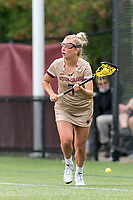 NEWTON, MA - MAY 14: Caitlynn Mossman #7 of Boston College looks to pass during NCAA Division I Women's Lacrosse Tournament first round game between Fairfield University and Boston College at Newton Campus Lacrosse Field on May 14, 2021 in Newton, Massachusetts.