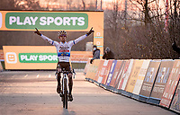 European CX Champion Eli Iserbyt (BEL/Pauwels Sauzen-Bingoal) winning once again<br /> <br /> Superprestige Boom (BEL) 2020<br /> Men's Race<br /> <br /> ©kramon
