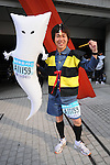 Feb. 27, 2011 - Tokyo, Japan - A man dressed in a reindeer costume takes part in the Tokyo Marathon. (Photo by Daiju Kitamura/AFLO SPORT)