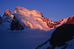 Sunrise on Barre des Ecrins, France, May 2007.