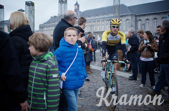 Jos van Emden (NLD/LottoNL-Jumbo) to the start<br /> <br /> 101th Liège-Bastogne-Liège 2015