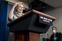White House Coronavirus Response Coordinator Dr. Deborah Birx delivers remarks during a coronavirus update briefing Thursday, April 9, 2020, in the James S. Brady Press Briefing Room of the White House<br /> <br /> People: Dr. Deborah Birx