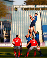 23th April 2021; RDS Arena, Dublin, Leinster, Ireland; Rainbow Cup Rugby, Leinster versus Munster; Ryan Baird of Leinster collects the line-out ball