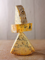 Blue and white stilton and Creamy Blacksticks cheese photos