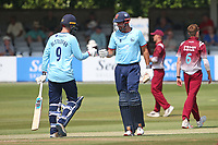 Sir Alastair Cook and Will Buttleman in batting action for Essex during Essex Eagles vs Cambridgeshire CCC, Domestic One-Day Cricket Match at The Cloudfm County Ground on 20th July 2021