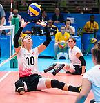 Jennifer Oakes, Rio 2016 - Sitting Volleyball // Volleyball assis.<br /> Canada competes against Ukraine in the Women's Sitting Volleyball Preliminary // Le Canada affronte l'Ukraine dans le tournoi préliminaire de volleyball assis féminin. 13/09/2016.