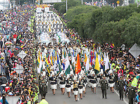 BOGOTÁ-COLOMBIA-20-JULIO-2013.Desfile Millitar conmemorando los 203 años de independencia de Colombia por la Avenida 68 ,desfilaron las cuatro armas de las Fuerzas Armadas :Ejército,Armada ,Fuerza Aérea y Policia . Foto :Felipe Caicedo /Vizzorimage / Staff<br /> Millitary parade commemorating the 203 years of independence from Colombia on Avenida 68, paraded the four arms of the Armed Forces: Army, Navy, Air Force and Police. <br /> . Photo: VizzorImage/ Felipe Caicedo/ STAFF