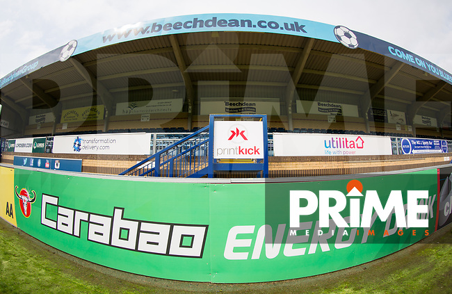 General view of the stadium pre match during the Carabao Cup 2nd round match between Wycombe Wanderers and Forest Green Rovers at Adams Park, High Wycombe, England on 28 August 2018. Photo by Andy Rowland.