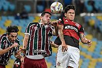 Rio de Janeiro (RJ), 15/07/2020 - Flamengo-Fluminense - Nino (e) e Pedro (d). Partida entre Flamengo e Fluminense, válida pela final do Campeonato Carioca 2020, no Estádio Jornalista Mário Filho (Maracanã), na zona norte do Rio de Janeiro, nesta quarta-feira (15).