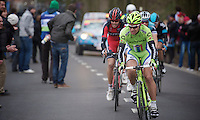 E3 Prijs Harelbeke.Peter Sagan (SVK) trying to chase Cancellara down with 10km to go, but ultimately fighting for 2nd