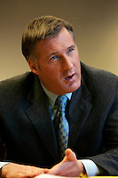 Montreal (Qc) CANADA - file photo- Dec 8, 2006- <br /> Maxime Bernier.<br /> <br /> The Honourable Maxime Bernier<br /> Minister of Foreign Affairs<br /> <br /> Beauce (Quebec)<br /> <br /> Maxime Bernier, first elected to the House of Commons in 2006, was appointed Minister of Industry on February 6, 2006.<br /> <br /> Before his election, Mr. Bernier was Vice-President of Corporate Affairs and Communications for Standard Life of Canada insurance company, and Director of Business and International Relations at the Commission des valeurs mobiliËres du QuÈbec. He has worked for financial and banking institutions and has provided advice on their behalf on various legislative issues.<br /> <br /> Mr. Bernier is a lawyer with a bachelorís degree in commerce. He was a member of the board of the Montreal Economic Institute and is a member of several charitable organizations. He was born and raised in Beauce, Quebec.<br /> Photo (c)  Images Distribution