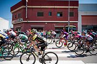 Team Mitchelton-Scott at the race start in Onda<br /> <br /> Stage 7: Onda to Mas de la Costa (183km)<br /> La Vuelta 2019<br /> <br /> ©kramon