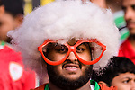 Soccer fans of Oman show their supports prior to the AFC Asian Cup UAE 2019 Group F match between Oman (OMA) and Japan (JPN) at Zayed Sports City Stadium on 13 January 2019 in Abu Dhabi, United Arab Emirates. Photo by Marcio Rodrigo Machado / Power Sport Images