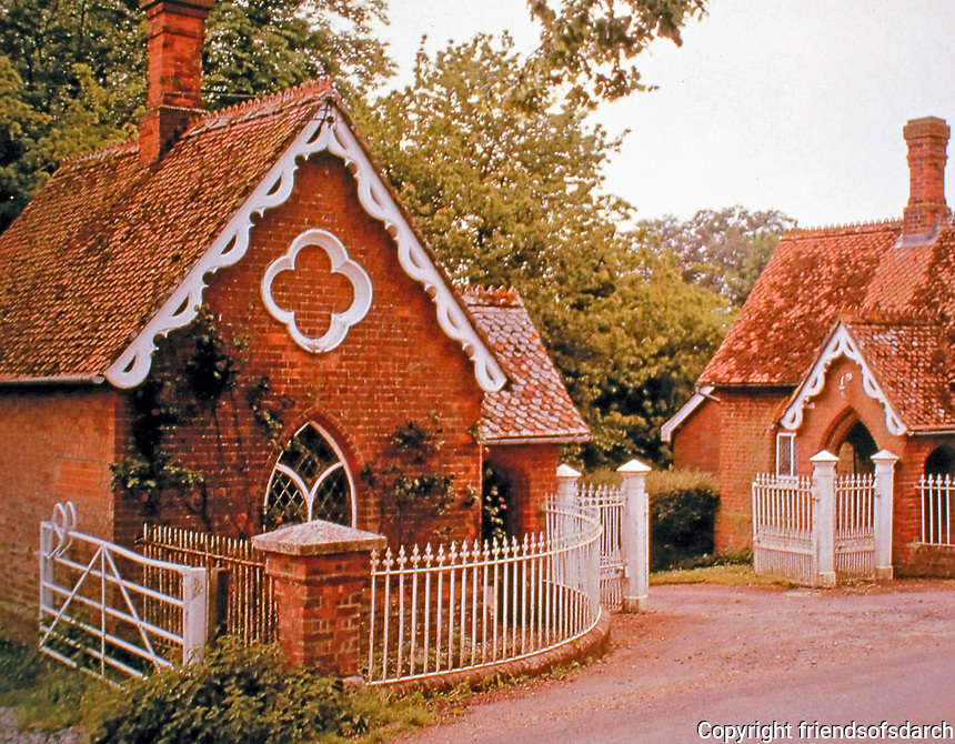 Picturesque Style. The image is an example of the style of architecture featured in this gallery.