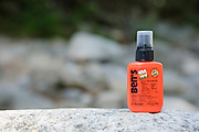 Bens Tick and Insect Repellent on rock in the White Mountains, New Hampshire.