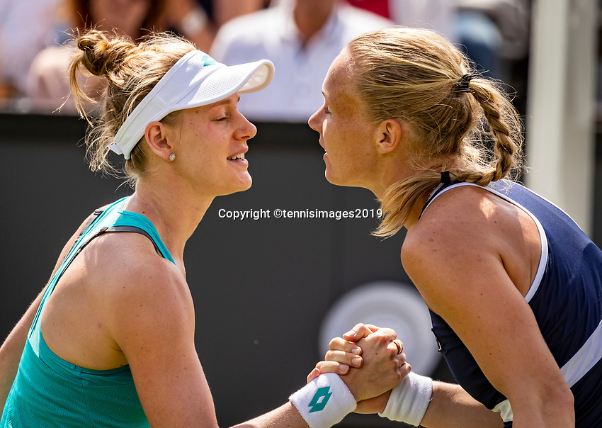 Rosmalen, Netherlands, 16 June, 2019, Tennis, Libema Open,Runner up  Kiki Bertens (NED) (R) congratulates winner Alison Riske (USA)<br /> Photo: Henk Koster/tennisimages.com