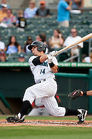 May 1 2010: Jake Smolinski (14) of the Jupiter Hammerheads  during a game vs. the Palm Beach Cardinals at Roger Dean Stadium in Jupiter, Florida. Palm Beach, the Florida State League High-A affiliate of the St. Louis Cardnials, won the game against Jupiter, affiliate of the Florida Marlins, by the score of 5-4  Photo By Scott Jontes/Four Seam Images