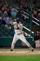 Scranton/Wilkes-Barre RailRiders second baseman Billy Fleming (29) at bat during the second game of a doubleheader against the Rochester Red Wings on August 23, 2017 at Frontier Field in Rochester, New York.  Rochester defeated Scranton 1-0.  (Mike Janes/Four Seam Images)