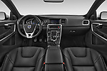 Stock photo of straight dashboard view of 2017 Volvo V60 T6-R-Design 5 Door Wagon Dashboard