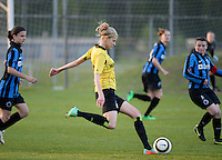 20140502 - VARSENARE , BELGIUM : Lierse's Justine Vanhaevermaet pictured during the soccer match between the women teams of Club Brugge Vrouwen  and WD Lierse SK  , on the 26th matchday of the BeNeleague competition on Friday 2 May 2014 in Varsenare .  PHOTO DAVID CATRY