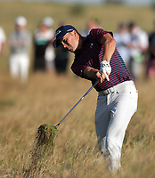 17th July 2021; Royal St Georges Golf Club, Sandwich, Kent, England; The Open Championship Golf, Day Three; Jordan Speith (USA) plays his second shot from deep rough on the 12th hole