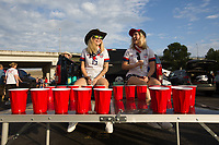 NASHVILLE, TN - SEPTEMBER 5: USA Fans during an American Outlaws tailgate before a game between Canada and USMNT at Nissan Stadium on September 5, 2021 in Nashville, Tennessee.