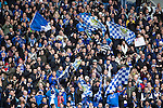 St Johnstone v Aberdeen...13.04.14    William Hill Scottish Cup Semi-Final, Ibrox<br /> Saints fans applaud their team<br /> Picture by Graeme Hart.<br /> Copyright Perthshire Picture Agency<br /> Tel: 01738 623350  Mobile: 07990 594431