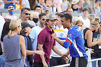 SAN JOSE, CA - AUGUST 8: Chris Wondolowski #8 of the San Jose Earthquakes celebrates after a game between Los Angeles FC and San Jose Earthquakes at PayPal Park on August 8, 2021 in San Jose, California.