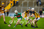 Crotta's James Sheehan and Abbeydorney's Shane O'Donavan keeps their eyes firmly on the sliotar during their encounter in the round 2 game of the County Senior hurling championship