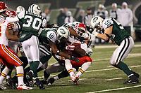 Wide Receiver Eddie Drummond (Chiefs) wird gestoppt<br /> New York Jets vs. Kansas City Chiefs<br /> *** Local Caption *** Foto ist honorarpflichtig! zzgl. gesetzl. MwSt. Auf Anfrage in hoeherer Qualitaet/Aufloesung. Belegexemplar an: Marc Schueler, Am Ziegelfalltor 4, 64625 Bensheim, Tel. +49 (0) 6251 86 96 134, www.gameday-mediaservices.de. Email: marc.schueler@gameday-mediaservices.de, Bankverbindung: Volksbank Bergstrasse, Kto.: 151297, BLZ: 50960101