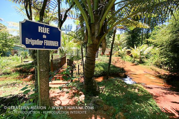 Rue du Brigadier Fournier, village de Prony, Nouvelle-Calédonie