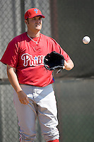 Brummett, Tyson 7650.jpg. Philadelphia Phillies Spring Training Camp. March 21st, 2009 in Clearwater, Florida. Photo by Andrew Woolley.