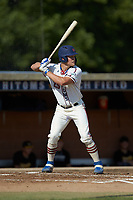 Rudy Maxwell (25) (Duke) of the High Point-Thomasville HiToms at bat against the Statesville Owls at Finch Field on July 19, 2020 in Thomasville, NC. The HiToms defeated the Owls 21-0. (Brian Westerholt/Four Seam Images)