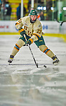 17 December 2013:  University of Vermont Catamount Forward Connor Brickley, a Senior from Everett, MA, in second period action against the Northeastern University Huskies at Gutterson Fieldhouse in Burlington, Vermont. The Huskies shut out the Catamounts 3-0 to end UVM's 5 game winning streak. Mandatory Credit: Ed Wolfstein Photo *** RAW (NEF) Image File Available ***