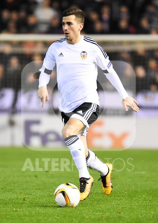 Valencia's    Jose Gaya  during Uefa Europa League match. February 18, 2016. (ALTERPHOTOS/Javier Comos)