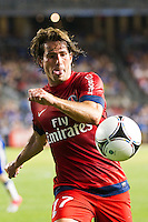 Maxwell (17) of Paris Saint-Germain. Chelsea FC and Paris Saint-Germain played to a 1-1 tie during a 2012 Herbalife World Football Challenge match at Yankee Stadium in New York, NY, on July 22, 2012.