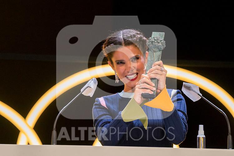 Juana Acosta during Malaga Film Festival Gala at Teatro Cervantes.August 24 2020. (Alterphotos/Francis González)