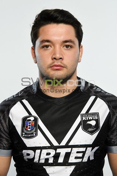 Brandon Smith.<br /> Headshots of the New Zealand Kiwis rugby league team, Auckland, New Zealand. 7 October 2018.<br /> Copyright photo: Andrew Cornaga / www.photosport.nz - ©PhotosportNZ/SWpix.com
