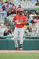 Harrisburg Senators outfielder Kevin Keyes (24) during the game against the Trenton Thunder at ARM & HAMMER Park on May 21, 2014 in Trenton, New Jersey.  Harrisburg defeated Trenton 9-0.  (Tomasso DeRosa/Four Seam Images)