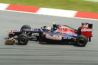 French driver Jean Eric Vergne on Toro Rosso  STR7.24/03/2012 Grand Prix Malesia, Sepang , Essais..Foto Insidefoto  /Bernard Asset / Panoramic.ITALY ONLY..
