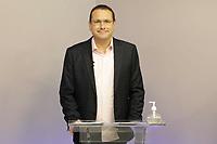 Campinas (SP), 19/11/2020 - Eleições/Debate - Rafa Zimbaldi. Os candidatos a prefeito da cidade de Campinas (SP), Dário Saadi (Republicanos) e Rafa Zimbaldi (PL) participam na noite desta quinta-feira (19) de um debate na sede da Band Campinas.
