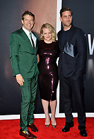 "LOS ANGELES, CA: 24, 2020: Jason Blum, Elisabeth Moss & Oliver Jackson-Cohen at the premiere of ""The Invisible Man"" at the TCL Chinese Theatre.<br /> Picture: Paul Smith/Featureflash"