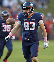 Oct. 22, 2011 - Charlottesville, Virginia - USA; Virginia Cavaliers tight end Jake McGee (83) during an NCAA football game against the North Carolina State Wolfpack at the Scott Stadium. NC State defeated Virginia 28-14. (Credit Image: © Andrew Shurtleff