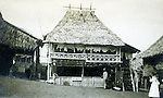 St Louis MO:  A view of a hat makers hut in the Philippine Village.  The Philippine Village was one of the most popular international exhibits during the Louisiana Purchase Exposition.